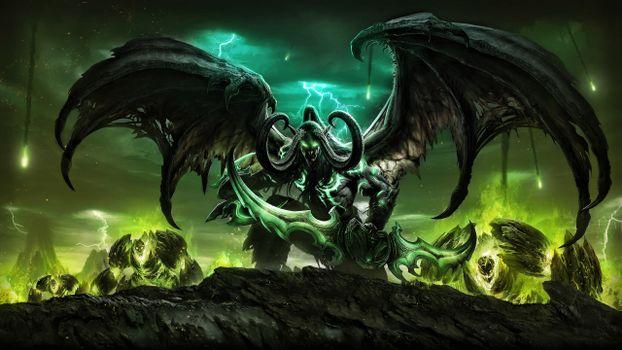 Обои демон,дьявол,фантастика,фэнтези,фантасмагория