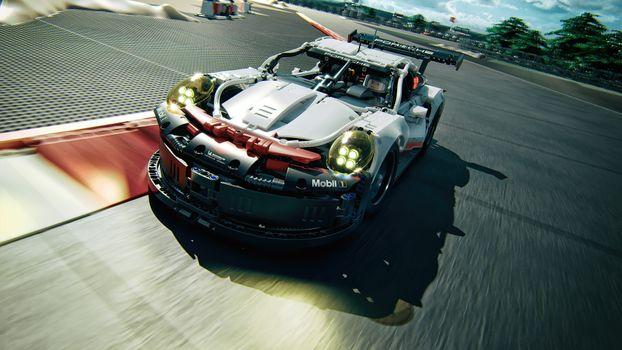 Фото бесплатно Porsche 911, Porsche, lego