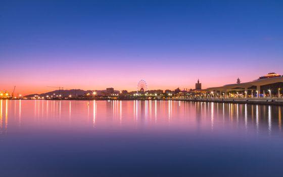 Photo free sunset, construction, harbor