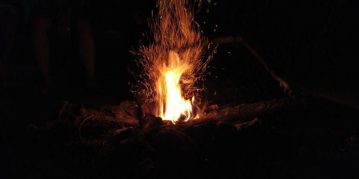Фото бесплатно костер, пламя, частицы