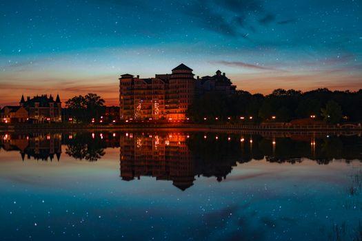 Фото бесплатно здание, отражение, пейзаж