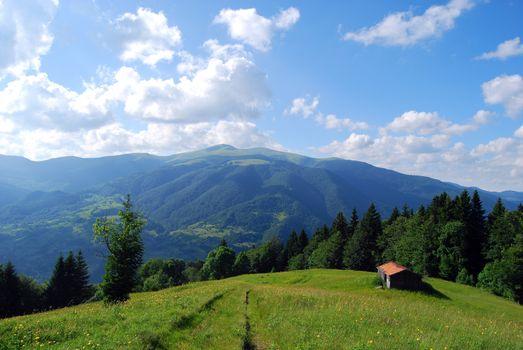 Заставки Карпаты, горы, поле