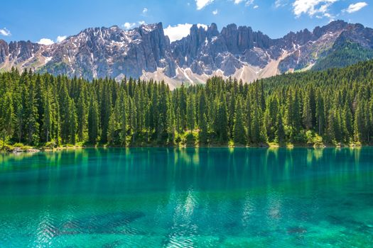 Photo free Italy, lake Carezza, Dolomites