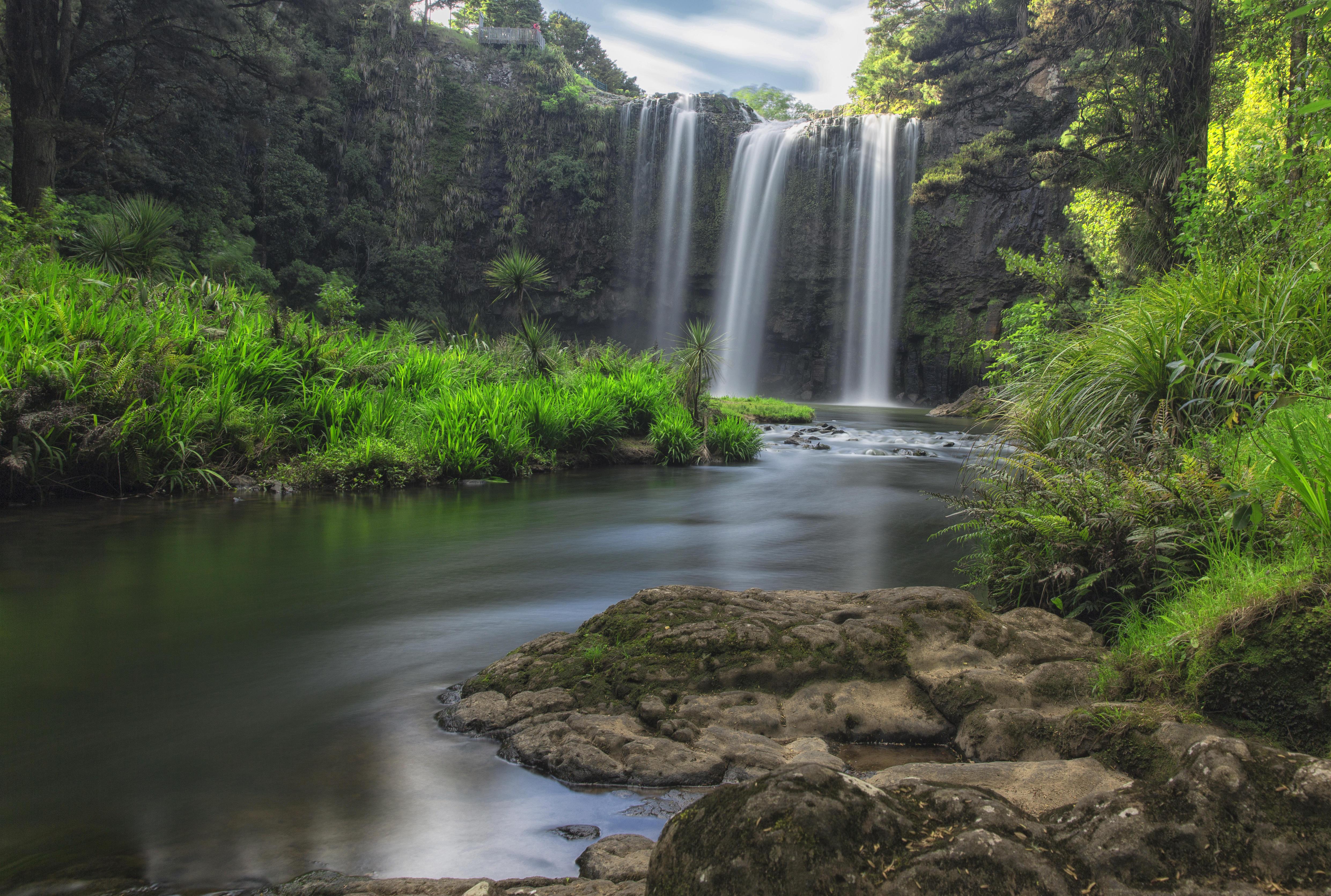 Обои Новая Зеландия, Скандинавский полуостров, Водопад Фангареи, Whangarei Falls