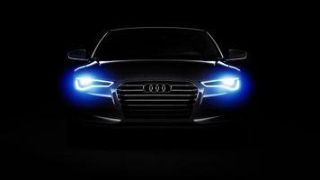 Бесплатные фото автомобиль, Audi, Audi A6, огни, темный, минимализм, черный фон