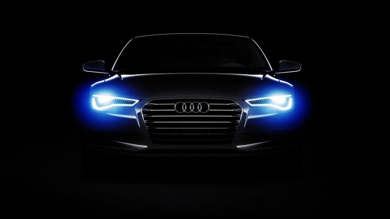 Фото бесплатно автомобиль, Audi, Audi A6, огни, темный, минимализм, черный фон, quattro, машины