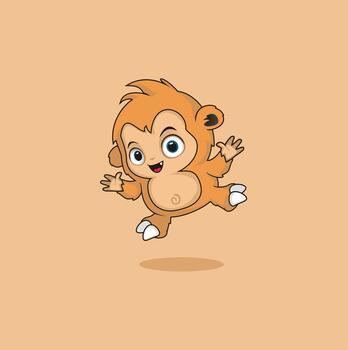 Photo free digital art, cute monkey, monkey