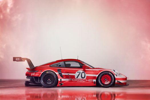Фото бесплатно Porsche 911 GT3 R, автомобили 2019 года, Porsche 911