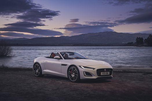 Photo free white car, convertible, coupe