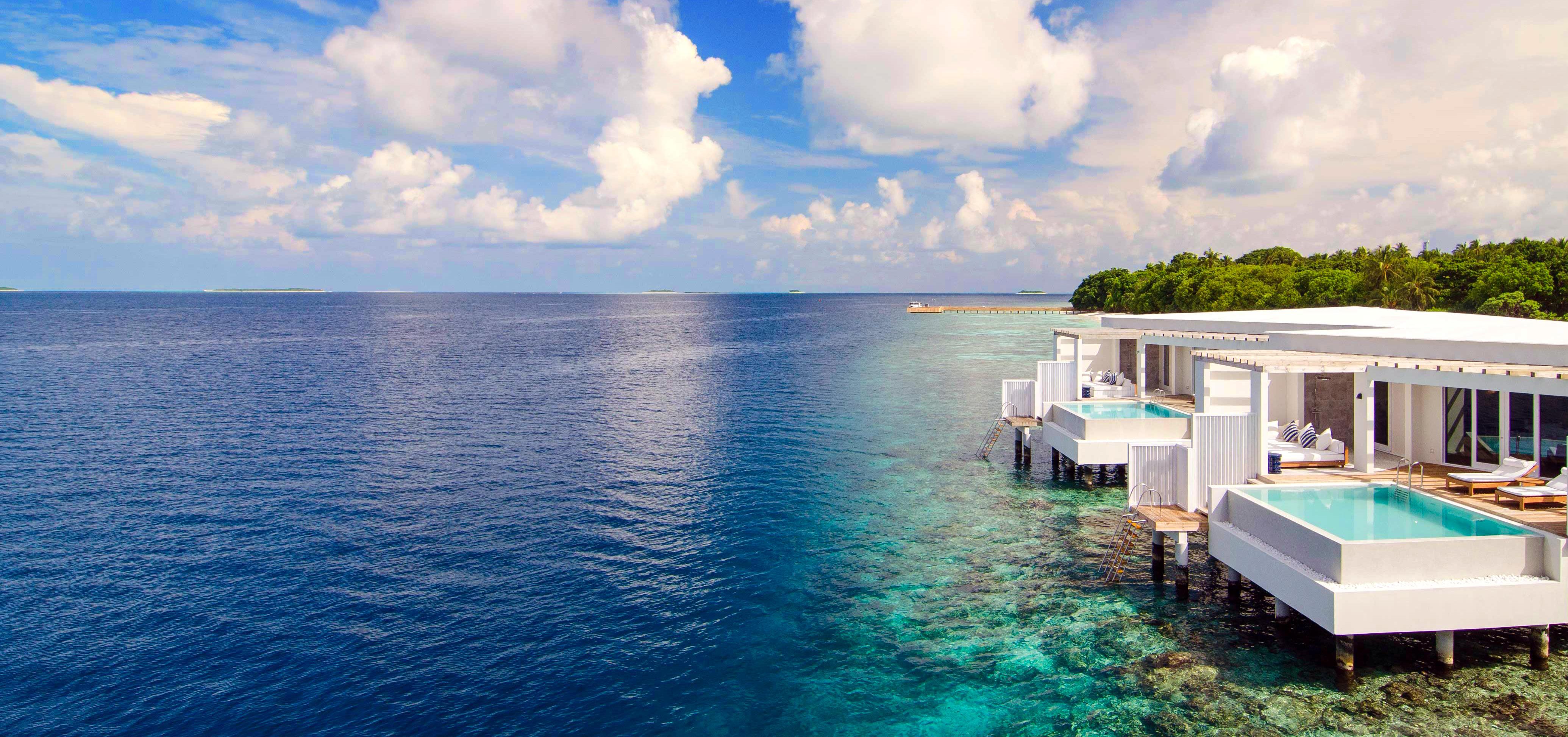 Обои море, остров, тропики, курорт