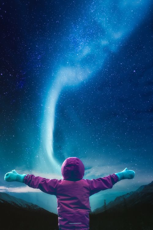 Ребенок и Млечный путь · бесплатное фото