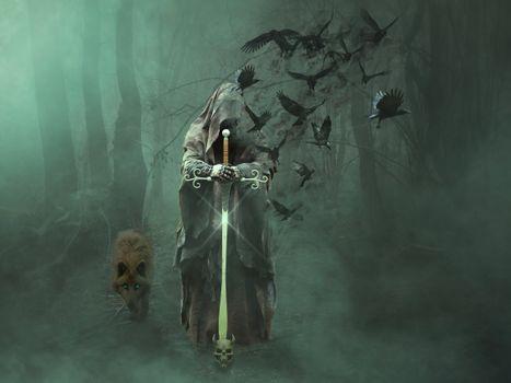 Фото бесплатно волшебник, леса, маг