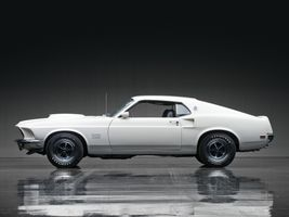 Photo free ford mustang boss 429, white, side view