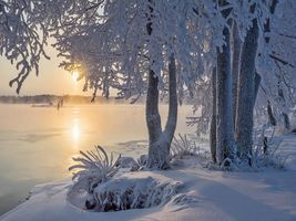 Фото бесплатно Озеро Сайма, пейзаж, зима