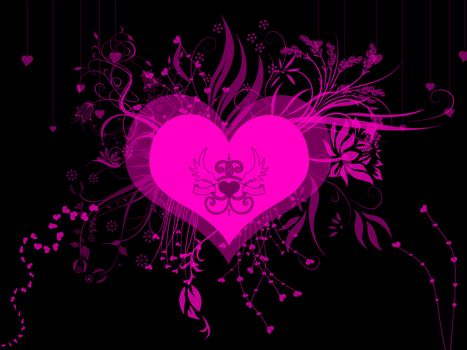 Розовое сердце · бесплатное фото