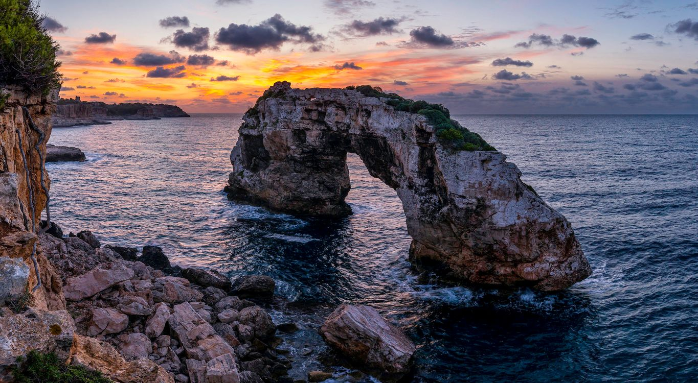 Photos for free sunset, landscape, arch - to the desktop