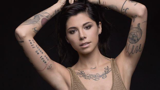 Photo free Christina Perri, music, tattoo