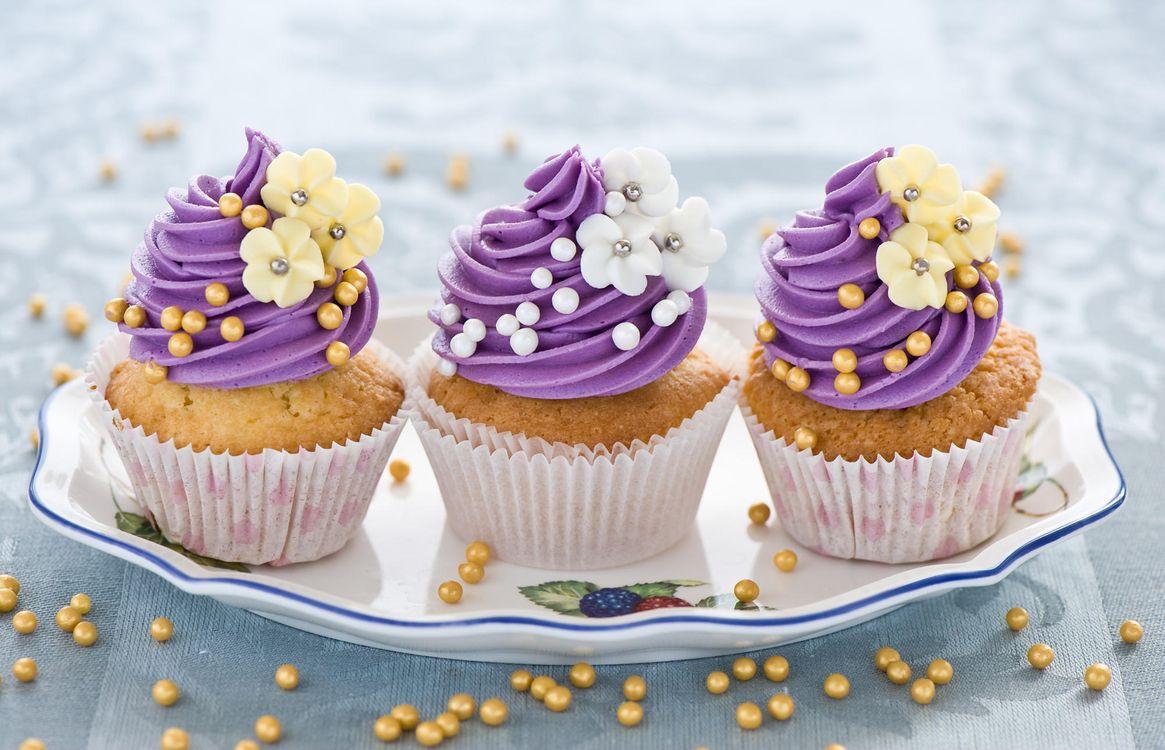 Free photo cream, cupcakes, decorations - to desktop