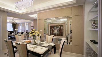 Фото бесплатно дизайн гостиной, комната, стол