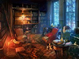 Бесплатные фото комната,кресло,лампа,книги,библиотека,интерьер