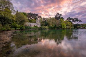 Бесплатные фото St Just in Roseland,Корнуолл,Англия,Великобритания,закат,церковь,деревья