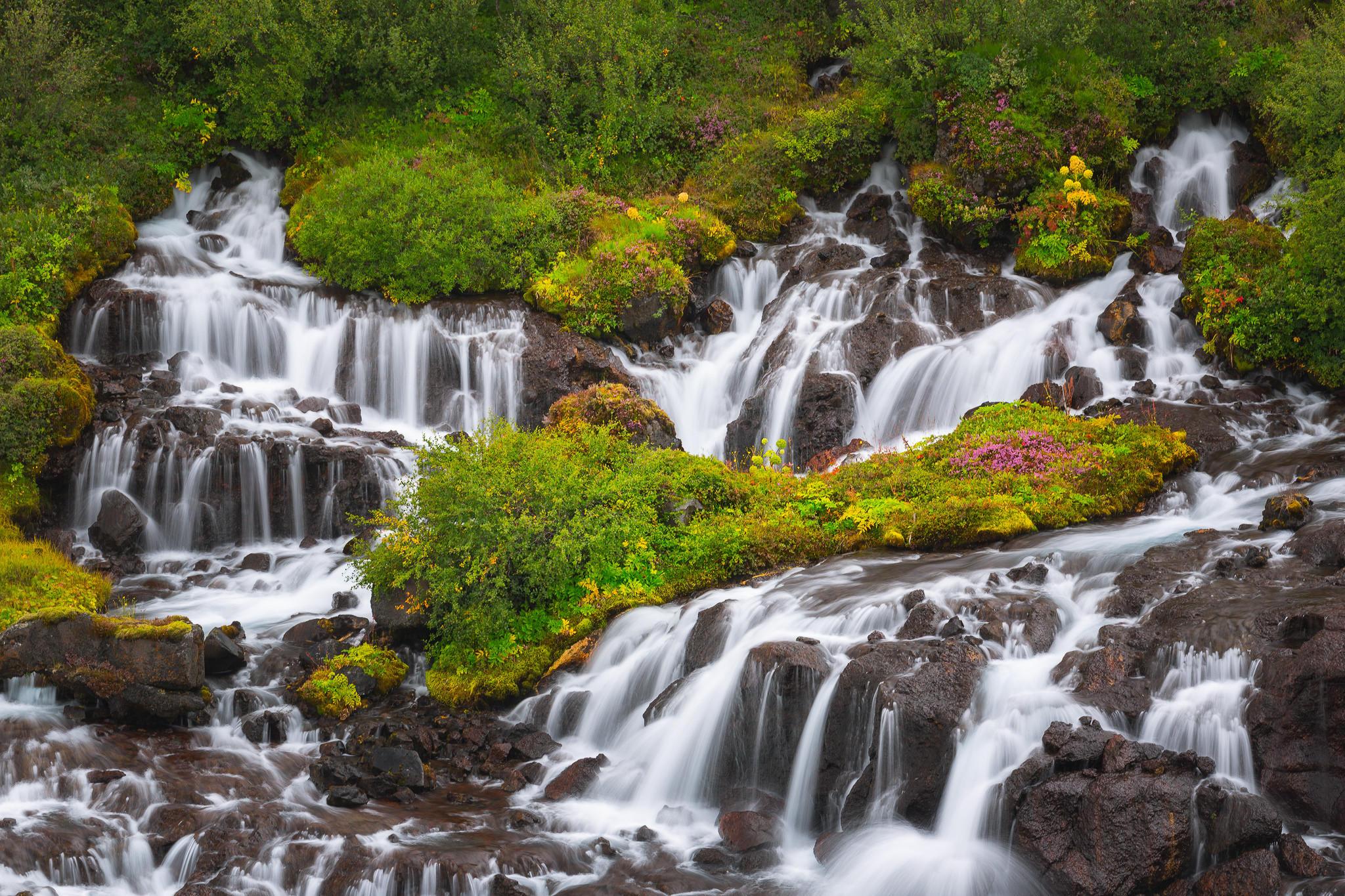 Исландия, лето, Хрёйнфоссар