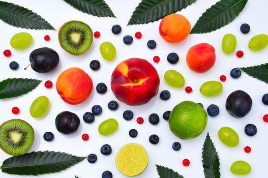 Photo free kiwi, peach, fruit
