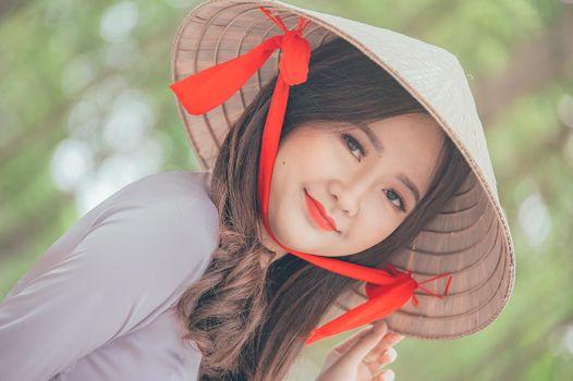 Фото бесплатно люблю, милый, портрет, красивая, счастливый, девушка, лицо, кожа, красный, красоту, леди, улыбка