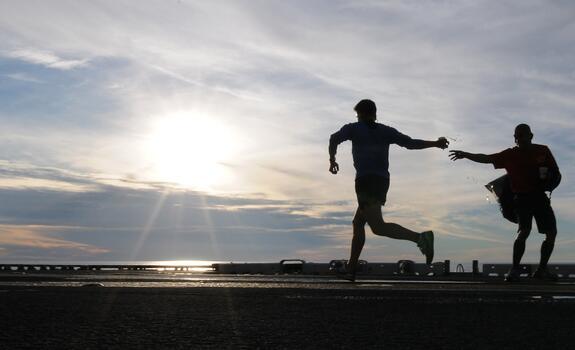 Фото бесплатно бег трусцой, побережье, запущена