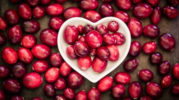 Фото бесплатно клюква, блюдце, сердце