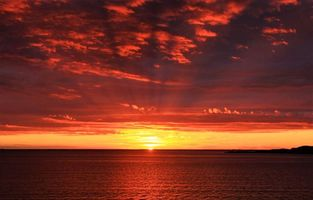 Photo free horizon, sunrise, sea