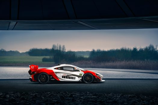 Фото бесплатно Mclaren, красно-белый, автомобили 2018 года