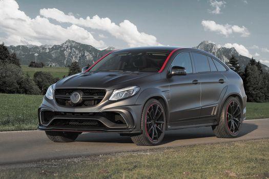 Фото бесплатно Mercedes Benz C292, черный, боковой