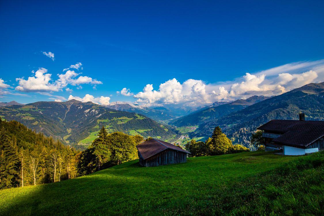 Фото бесплатно пейзажные альпы природа горы Швейцарии - на рабочий стол
