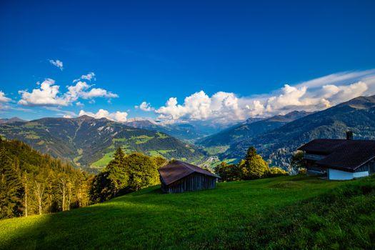 Заставки пейзажные альпы, природа, горы Швейцарии