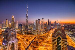 Фото бесплатно небоскребы, дороги, освещение