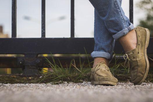 Фото бесплатно обуви, трасса, нога