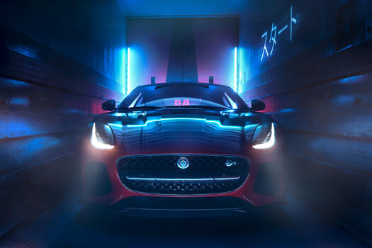 Photo free Jaguar F Type, view from front, front of