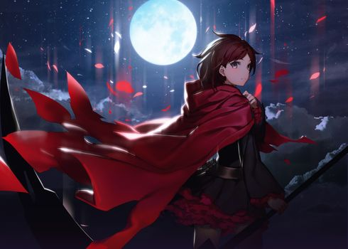 Photo free back, ruby rose, cloak