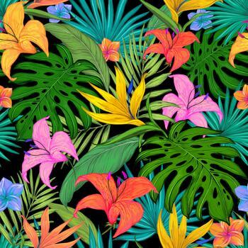 Фото бесплатно яркие цветы, цифровое искусство, разное