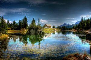 Фото бесплатно федеративное озеро, доломиты, природа