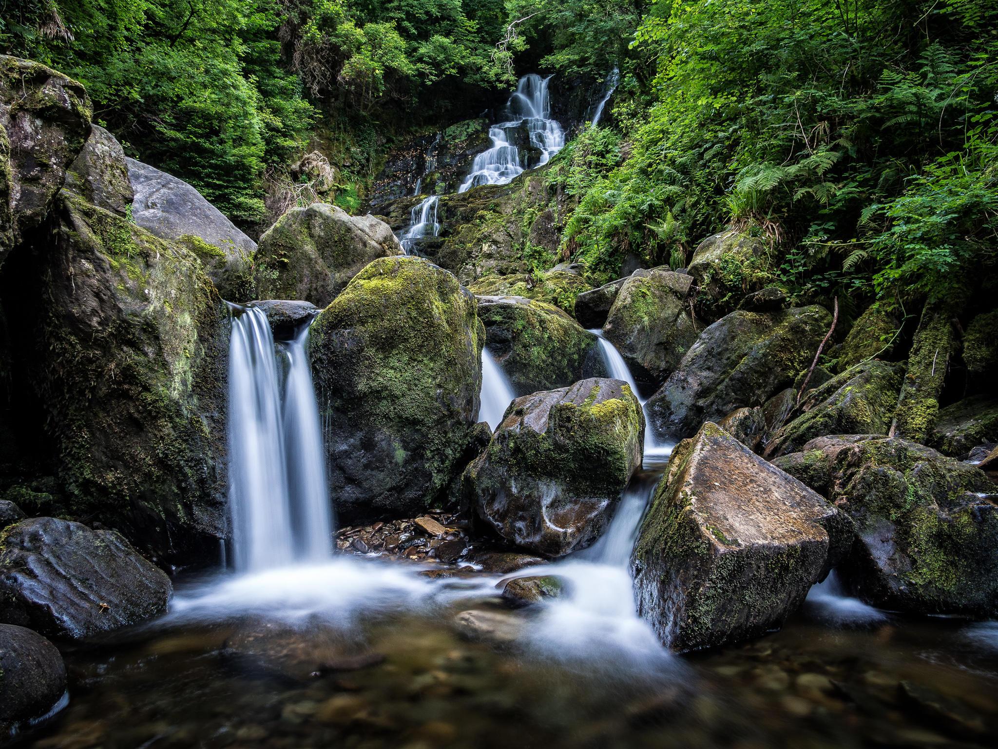 Обои Torc Waterfall, Killarney National Park, водопад, камни