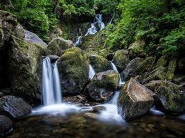 Бесплатные фото Torc Waterfall,Killarney National Park,водопад,камни,водоём,мох,природа