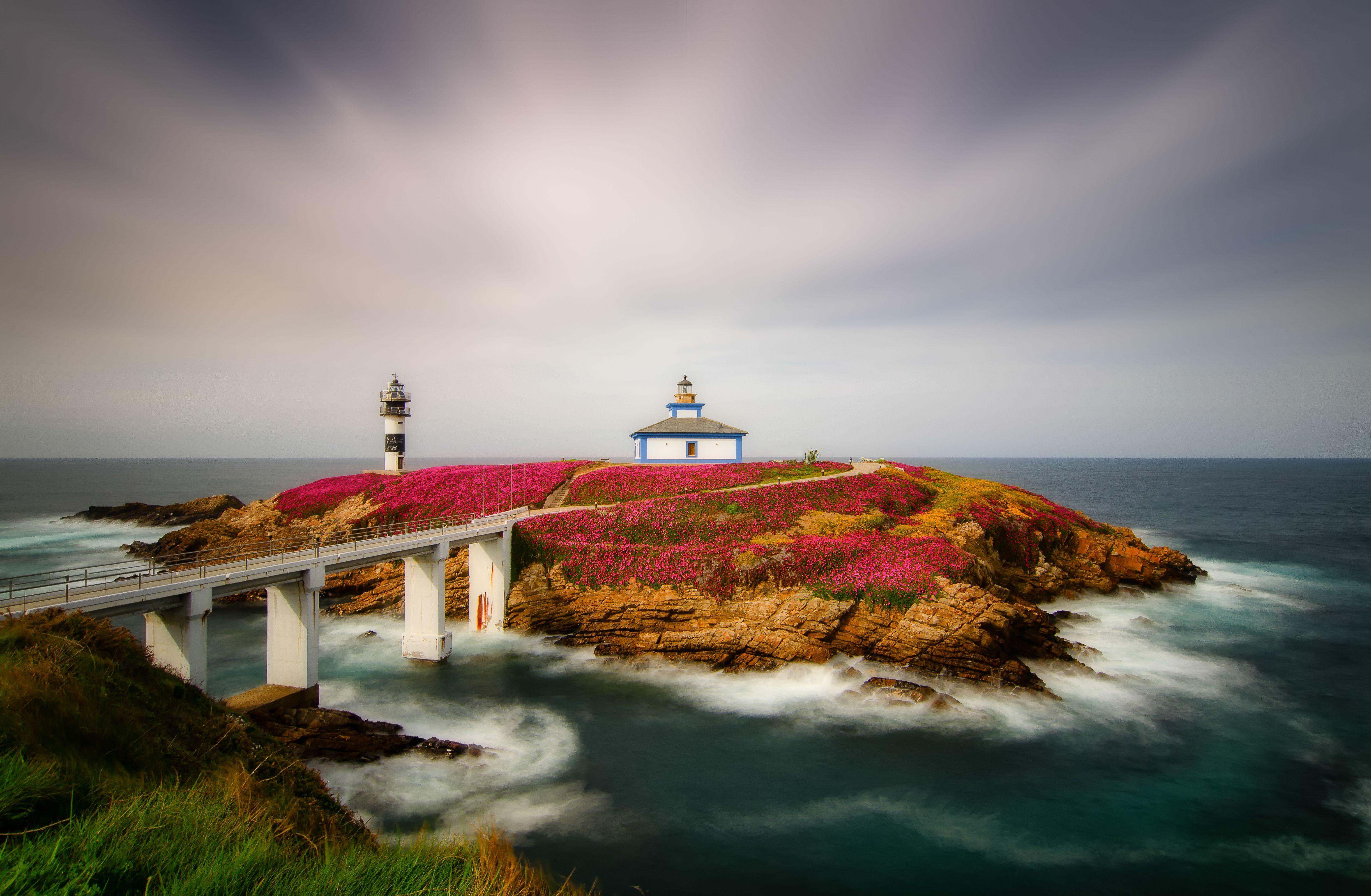 Обои Isla Pancha, Ribadeo, Испания, Атлантический океан