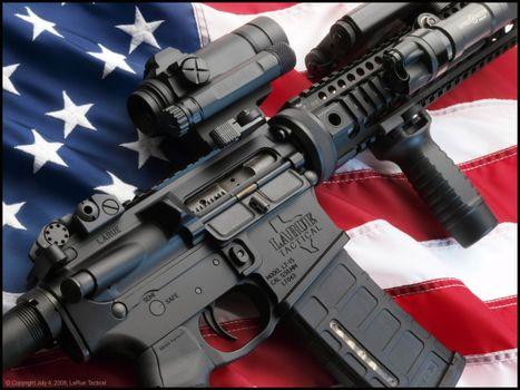 Photo free assault rifle, pistol, USA