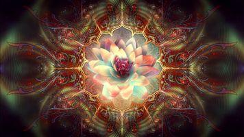 Абстракция и цветок