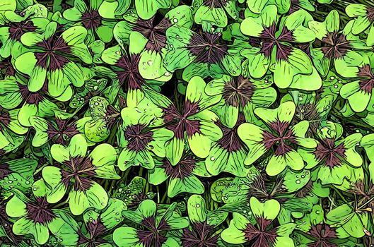 Фото бесплатно Clover, листья, искусство