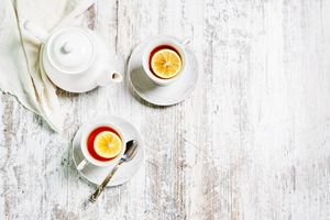 Photo free food, tea, two