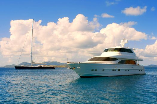 Photo free sea, boats, clouds