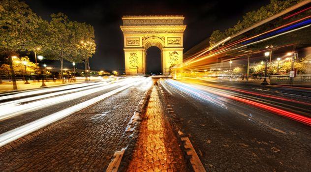 Free Parisian, Arc de Triomphe hot photos